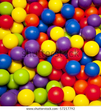 colorful plastic balls on children\'s playground