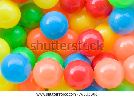 colorful plastic balls on children's playground.