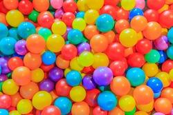 colorful plastic multi-colored balls