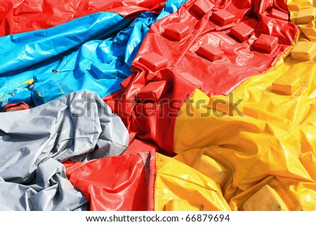 colorful plastic tent