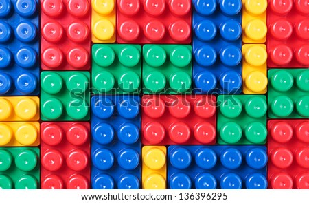Colorful plastic toys...
