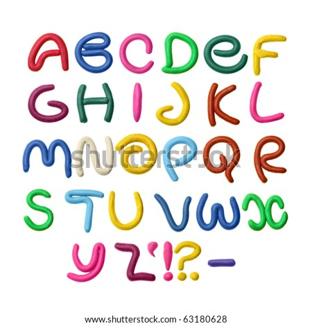 Colorful plasticine alphabet