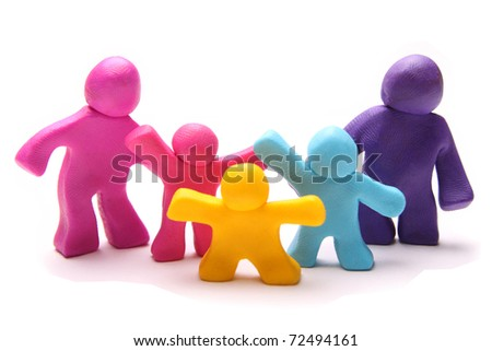 colorful plasticine family