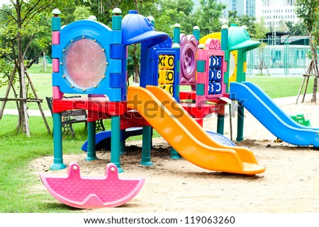 Colorful playground fun red day ice set joy kid cold baby