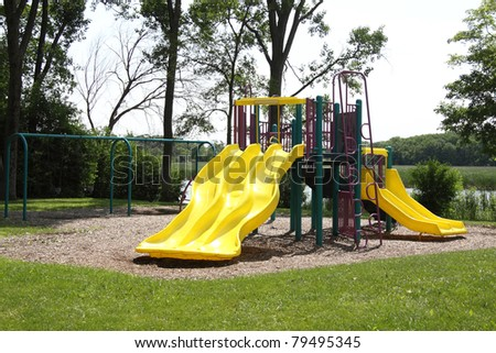 Colorful playground in the park