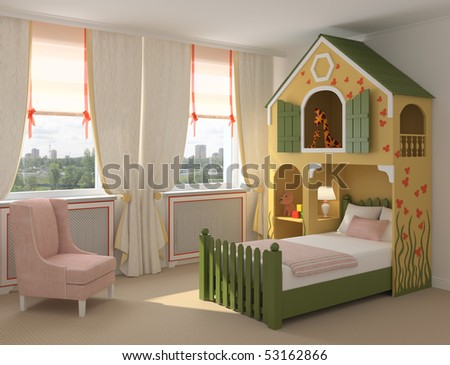 Colorful playroom. - stock photo