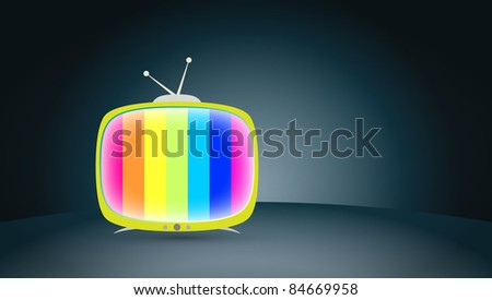 colorful polychrome TV screen