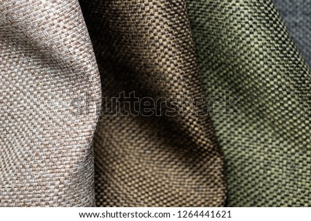 Colorful Polyester Fabric surface for  background.clothing fabric texture.
