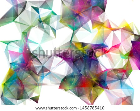 Colorful polygonal background for technology and design projects. Polygons and Stars series.