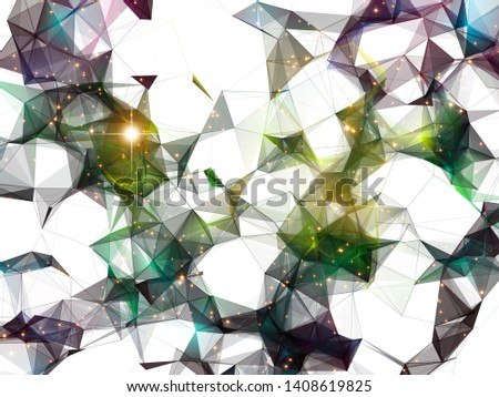 Colorful polygonal background for technology and design projects. Polygons and Stars series. 3D illustration