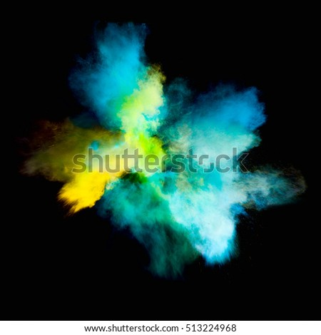 Colorful powders on black background #513224968