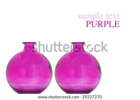 Colorful Purple Vases Isolated On White Ez Canvas