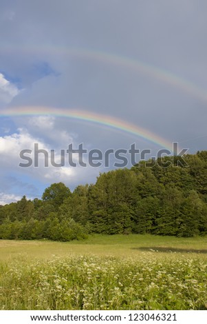 colorful rainbow