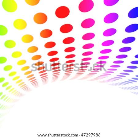 Colorful Rainbow Halftone Dot Pattern