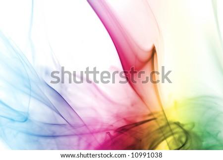 Colorful Rainbow Smoke - stock photo