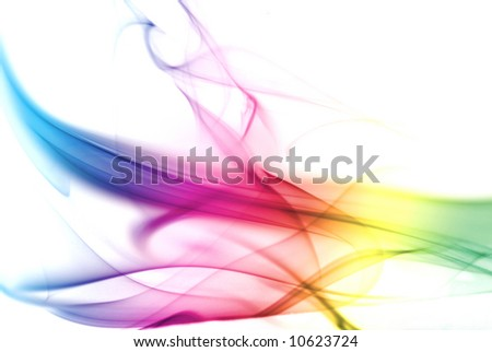 Colorful Rainbow Smoke Background