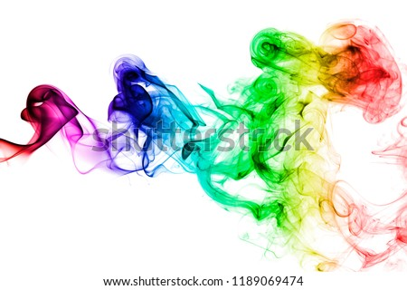 Colorful rainbow smoke, gay pride flag colors, LGBT community flag #1189069474