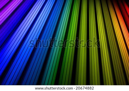 Colorful rainbow stripes - stock photo