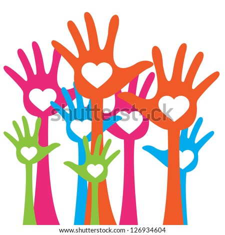 The gallery for --> Helping Hands Heart Clip Art