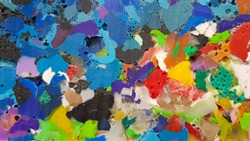 Colorful recycled melted plastic background
