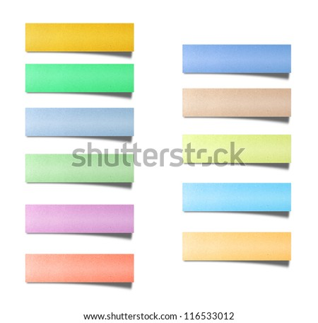 colorful recycled paper label - stock photo