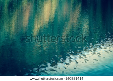 Colorful reflection in water. Abstract background. #160851416