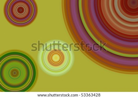 Colorful retro circle background