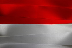 Colorful ribbon as Indonesia national flag, a horizontal bicolor of red and white.