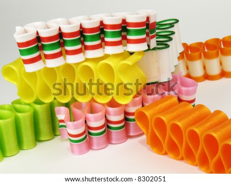 Colorful Ribbon Candy