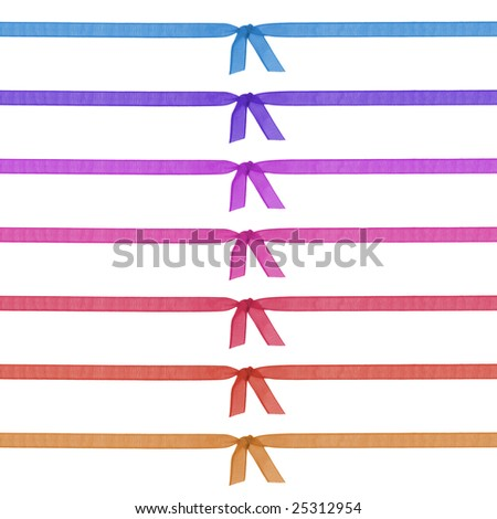 Colorful Ribbon in White Background