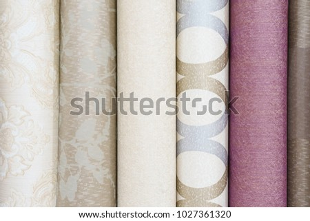 Colorful rolls of wallpaper as background #1027361320