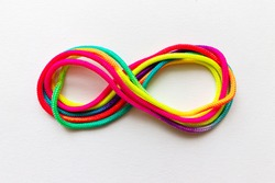 Colorful Ropes Infinity Symbol Top View