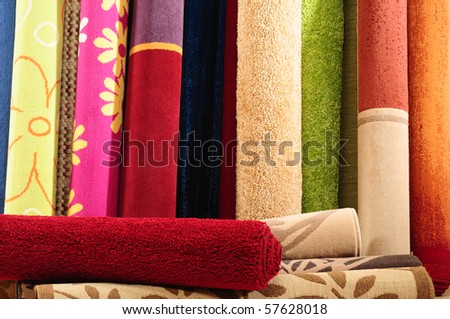 Colorful rugs.