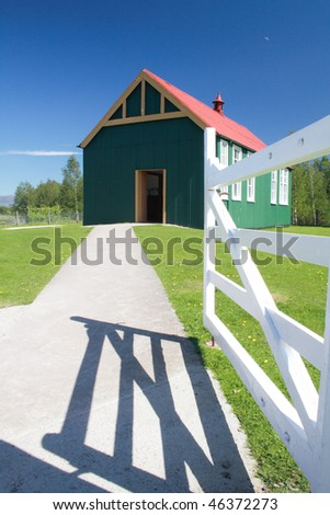Colorful rural building