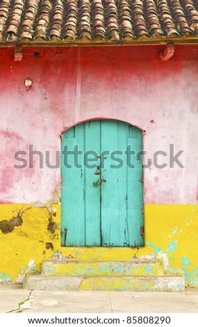Colorful Rural House Facade