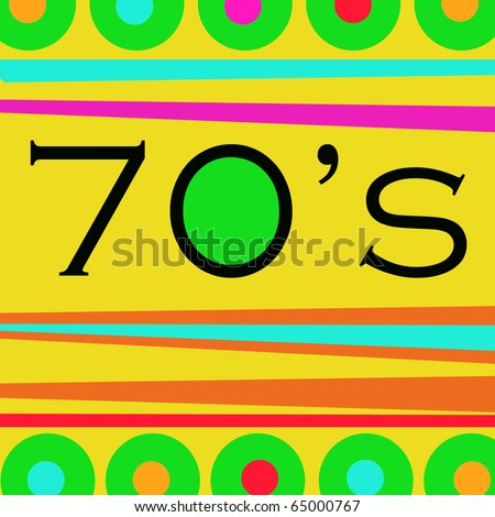 colorful 70's graphic design background composition
