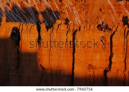 Colorful sandstone spires at sunrise,  Bryce Canyon National Park, Utah - stock photo