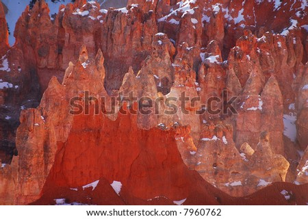 Colorful sandstone spires, Bryce Canyon National Park, Utah