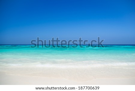 Colorful Sea , Sand and Sky #187700639