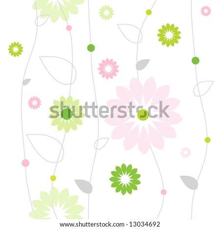 Colorful seamless pattern with flowers. Lovely pattern for scrapbook, craft, home made projects, invitations, greetings, birthday card, textile. Nice natural modern texture