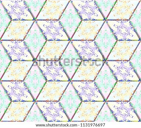 Colorful seamless rhombus pattern