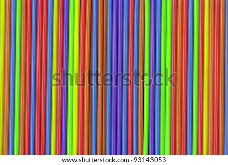 Colorful Selection of Drinking Straws for your background