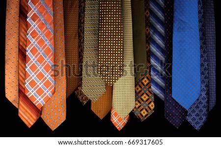 Colorful set of ties Stock foto ©