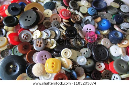 Colorful sewing buttons background