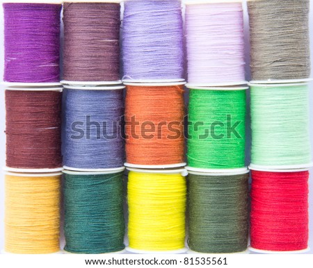 Colorful Sewing Cotton Spools
