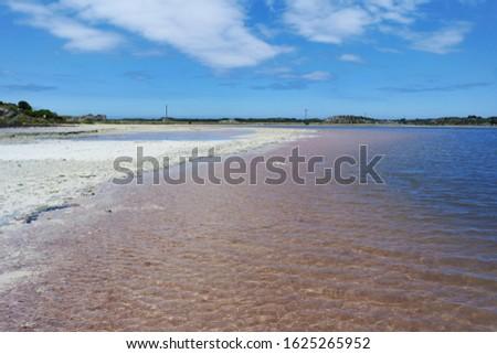 Colorful shoreline of a lake