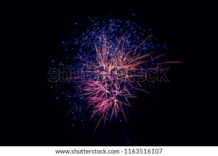 colorful silvester firework