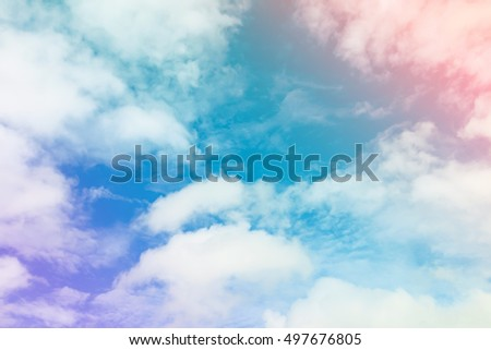 Colorful sky and clouds. - Shutterstock ID 497676805