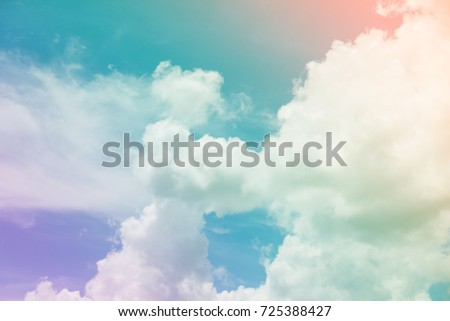 Colorful sky and clouds. (heaven) - Shutterstock ID 725388427