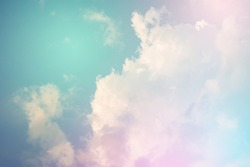 Colorful sky and pastel color with cloud background.